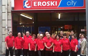 Eroski y Gureak de la economía social, abren un segundo supermercado gestionado por personas con discapacidad